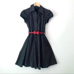 Retro pinup vintage style striped dress